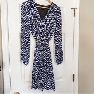Banana Republic Graphic Printed Wrap Dress
